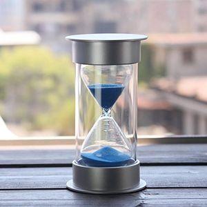 45 minutos de reloj de arena, reloj de arena con arena moderna de Mantel escritorio de oficina Mesa de estante de libro objeto curioso Gabinete o mesa auxiliar Chr Otros relojes