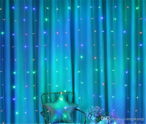BY E POSTAL 3 * 3Meters With 300LED Curtain Light Wedding Festival Christmas Light String(American plug)