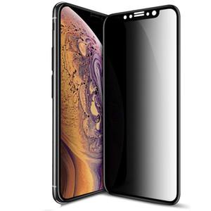 iPhone X / XS iPhone XR / iPhone XS MAX için Gizlilik Filtresi Temperli Tam Kapsam Film AntiSpy Shield Ekran Koruyucu