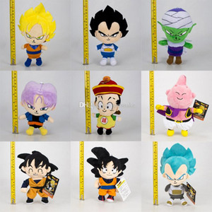 Nostalgie de Dragon Ball Z en peluche Jouets New Cartoon Krilin Vegeta Goku Gohan Piccolo Beerus Poupées en peluche enfants jouet cadeau de Noël B