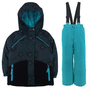 Children's Ski Wear Set Winter Thicken Waterproof Jacket Mountaineering Wear Boys and Girls Snowsuit Wind and Snow