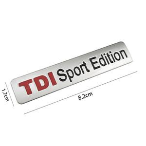 Metal Red TDI Sport Edition Логотип Turbo автомобили Письмо наклейка эмблема Chrome Знак Табличка для VW POLO GOLF CC TT JETTA GTI TOUAREG