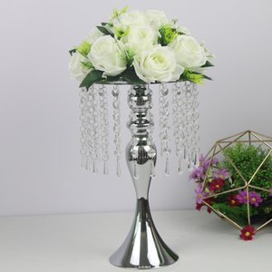 New Design Flower Vase Flowers Stand Golden  Silver Wedding  Table Centerpiece Road Lead Home Party Hotel Decor