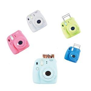 INSTAX فوجي فيلم كاميرا صغيرة 9 فوري مع فيلم التوأم حزمة حزمة + إكسسوارات صورة شخصية عدسة كاميرا الشريط كاميرا فورية