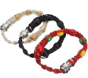 Bracciale tubo di fumo Bracciale portatile branello del metallo Pipe mano Wristband Tubi uomini / donne fredde regalo nodo della corda GGA3345-6