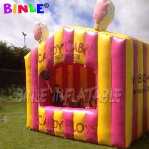 Belle maison de stand barbapapa gonflable, tente gonflable pop corn, foire carnaval Fun cotton candy gonflable vendre cabine cabine