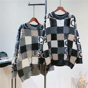 Марка Мода Повседневная свитер Женщины Мужчины Письмо печататься качество дизайнера Осень Зима Теплый свитер Женщины Мужчины Черный Серый Hip Hop Tops