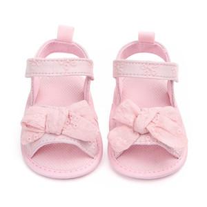 Été bébé fille sandales coton bébé chaussures mode nouveau-né arc fille sandales coton princesse chaussures
