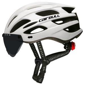 LED Bicycle Helmet Luz traseira do capacete com lente de vidro protetor Outdoor Sports On Por Estrada MTB andar de bicicleta