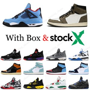 Nike Air Jordan retro 4 Bred Cool Grey 4 IV 4s mens Scarpe da pallacanestro Fungo Encore What The Pizzeria Royalty gatto nero uomo donna sneaker sportive