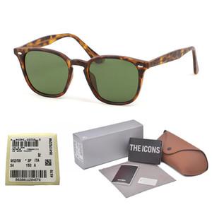 Высокое качество UV400 стеклянные линзы Квадратные Солнцезащитные Очки Женщины Мужчины Марка Дизайнер крутые уличные мужские солнцезащитные очки gafas с бесплатным футляром и этикеткой