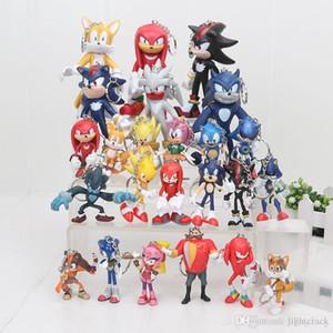 Sonic the Hedgehog Boom Rare Shadow the Hedgehog Miles Prower Knuckles echidna pvc figura Llavero T4532243
