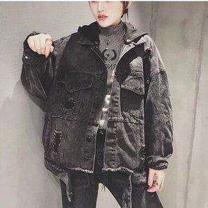 Уличный стиль ковбойская куртка, европейские товары, новая европейская станция тяжелой промышленности балахон в 2019 году бесплатная доставка