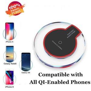 Qi Certificado de carga inalámbrica Qi cojín de alta eficiencia cargadores inalámbricos para Samsung Nota iPhone 8 S8 S10 S7 S6 8 8 Plus X iPhone