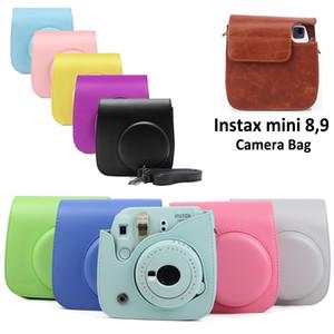 Acessórios Peças Bags casos para Fujifilm Instax Mini 9 8 Camera PU Leather Cor Bag Instax Mini caso