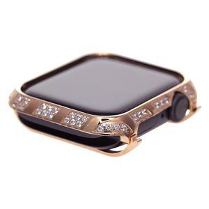 2019 nova rosa de ouro smart watch case para apple watch series 4 liga de metal capa protetora de cristal de strass diamante caso moldura 40mm 44mm