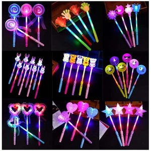 Concierto de dibujos animados barra luminosa LED Juguetes para niños Fairy Magic Stick flash Sticks Animal Love forma LED juguete de la luz GGA2616