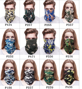 128 colors Outdoor masks multi-function Head scarf seamlessly headband scarf Bandanas cycling masks skeleton magic scarf Party Masks GH238