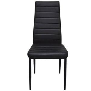 4 Stück Schwarz Slim Line Dining Chair Wohnzimmer-Möbel
