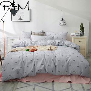 Papa&Mima cactus print fashion style cotton Queen Twin King size bedding set duvet cover flat sheet pillowcases