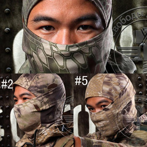 Outdoor Camouflage Tactical Balaclava Masks Paintball Full Face Motorcycle Skiing Cycling Mask Hood