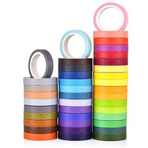 2016 캔디 컬러 레인보우 종이 테이프 Writable Adhesive Washi Tapes 스티커 자료 Escolar Office School Papelaria 편지지