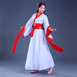 Style Chinois Femmes Hanfu Guzheng Opéra Costume traditionnel Costume de danse manches larges dynastie qing Les vêtements de performance