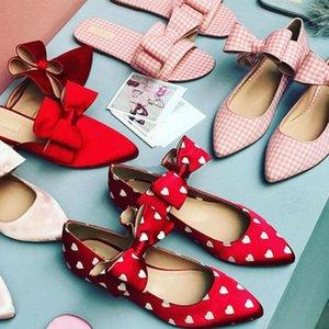 kmeioo Sweet Lolita donne scarpe scarpe stile donna prom scarpe basse scintillio barca appartamenti punta a punta bowtie sandali