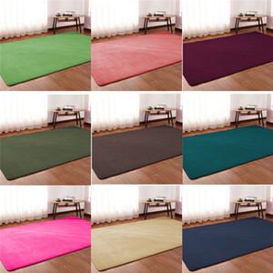 2019 New children crawling mat bedroom blanket sofa room simple coffee table living room rectangular rug Coral velvet carpet
