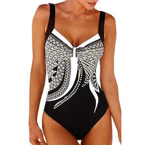 Mulheres Sling Conjoined Swimsuit Triangle Backless Swim Wear Sexy Retro Impressão de Alta Força Elástica Mais Cor Da Moda 36js C1