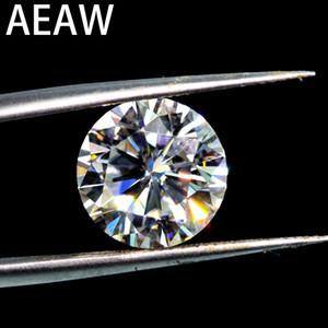 Karat 9.0mm IJ Renkli Moissanite Gevşek Taş VVS1 Mükemmel Kesim Sınıf Testi Pozitif Lab Diamond 3ct Yuvarlak Parlak Kesim