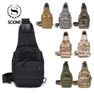 Scione Men Nylon Waterproof Camouflage Chest Bags Shoulder Backpack Fashion Military Outdoor Sports Crossbody Hiking Travel Bag Y19061102