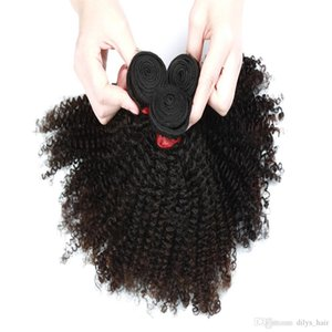 9A Afro Kinky Curly Hair Extension 3 Bundles or 4 Bundles Brazilian Indian Malaysian 100% Virgin Human Hair Natural Color 8-28inch