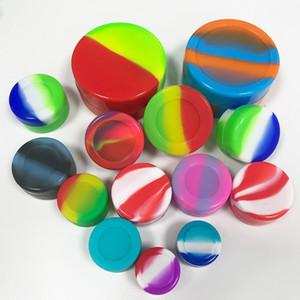 Huile silicone anti-adhésif Container 3ml 5ml 7ml 10ml Cire Conteneurs Boîte de qualité alimentaire Jars Dab outil de stockage coloré Porte-huile DHL Livraison gratuite