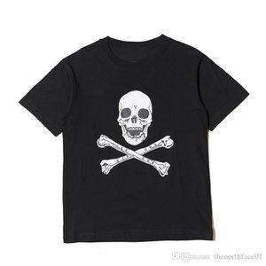 18SS ASAP Rocky christmaas camiseta de la moda para hombre Negro cráneo Impreso diseñador T Shirts Hombres Mujeres manga corta de diseño camisas talla S-XL