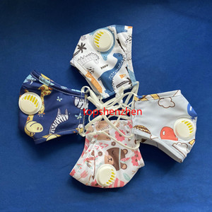 Moda Yeniden kullanılabilir Çocuklar Tasarımı Yüz Ağız Filtresi ile Yıkanabilir Maske Nefes Valve Anti Toz Fabric Maske maske