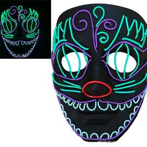 Tatil Dikmeler Münhasır Parti Endüstriyel Halloween Gül Çiçek El Parlayan Led Özelleştirilebilirlik Maske olun Maske