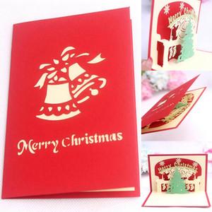 Cartes de Noël de Nice 3D Joyeux Noël Série Santa Handmade Custom Greeting Cards Cadeaux Souvenirs Cartes postales