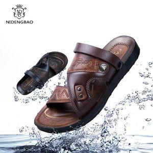 2020 New Summer Sandals Men Outdoor Casual Men Shoes Non-Slip Breathable Beach Sandals Two Ways Wearing Shoes Sandalias Hombre Y200702