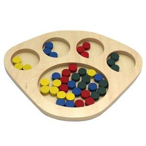 Brettspiel Math Kleinkinder Early Learning pädagogisches Spielzeug aus Holz Blöcke Brain Training kognitiver Sorting Non Toxic Montessori Fun