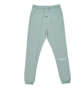 TANRI Essentials Pantolon 3M Yansıtıcı Harf Baskı Parça İpli Moda Sokak Pantolon Spor Sweatpants mavisi SİS KORKUSU