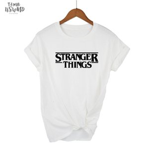 Stranger Things Ringer Tee Hipster Shirts Tumblr Graphic T Shirt Women Men Letter Print T Shirt Trendy Cotton Casual Tops