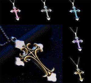 500pcs Black Gold color Crucifix Bible Prayer Cross Pendant Men Necklace Chain G267