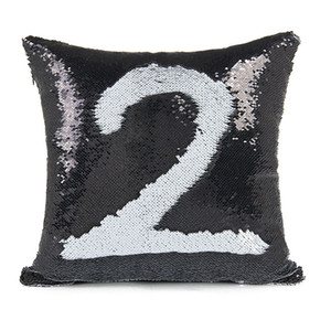 Silver Sequin Decorative Pillows Glitter Silver Bling Throw Pillow Case Sofa Seat for Home Decor Cushion Cover Cushions Cases