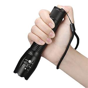 야외 필수 빛 손전등 방수 듀얼 전원 공급 장치 하이킹 모험 손전등 200m 분명 T6 심지