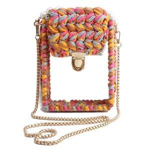 2020 DIY Handmade Acrylic Beaded Crosbody Bag Women Evening Bags Lady Transparent Handbags Bag
