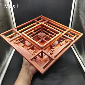 Culture chinoise tenon mortaise commun modèle en bois Redwood Puzzle Education Jeu d'apprentissage Toy Structure du bâtiment