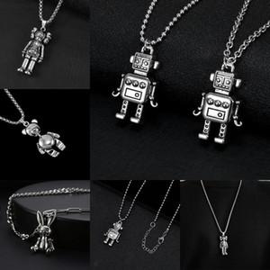 2020 4Style Kühle Roboter Abbildung Trans Anhänger Silber Edelstahl-Anhänger für Frauen-Mann-Anhänger Hip-Hop populär Halskette Schmuck
