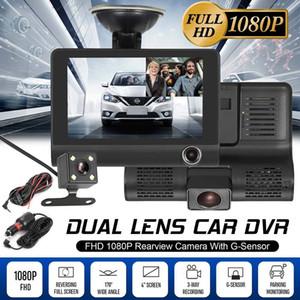 Auto-DVR 3 Kameras Objektiv 4.0 Zoll-Schlag-Kamera-Doppelobjektiv mit Rearview-Kamera-Videogerät Auto Registrator DVRs Dash Cam