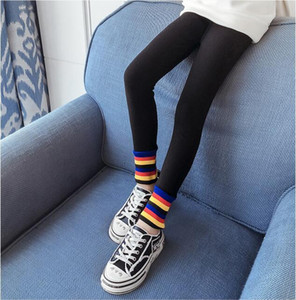 Children's winter warm children's pants new children's clothing Korean version plus velvet thick stitching outer wear legging